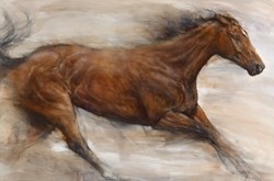 Thoroughbred Liberty by Gary Benfield -  sized 31x22 inches. Available from Whitewall Galleries